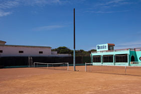 Tennis courts at Oualidia
