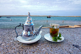 Mint tea after lunch at Ostrea II