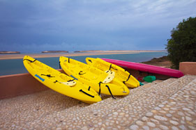 Kayaks for hire, Hippocampe Hotel, Oualidia